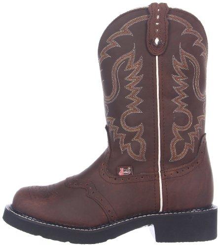 Bootsl9909 Western Donna Justin bark Stivali Marrone YwEvvdq