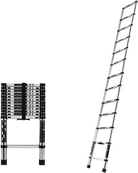 DD Escalera Telescópica, Escalera Recta de Aluminio, Pasos Plegables Extensión Para Jardín, Exterior, Limpio (cumple EN131) (Tamaño : Straight ladder-2.6m): Amazon.es: Bricolaje y herramientas