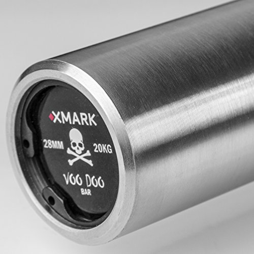 XMark VOODOO Commercial 7' Olympic Bar, 1500 lb Weight Capacity, 28 MM Grip, OB86 (Black Manganese Shaft or Hard Chrome)