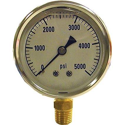 Max PSI 3000 AR Annovi Reverberi AR0-3000 Annovi Reverberi Pressure Gauge Bottom Mount Stainless Steel A.R
