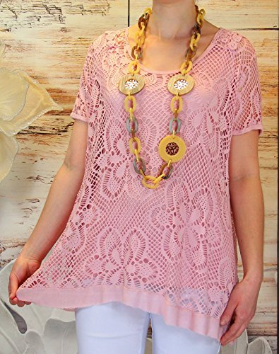Grande Dos Bohme Tunique Elisa Papillon Dentelle Rose Rose Top Rose Taille Charleselie94 tnHUwYqY