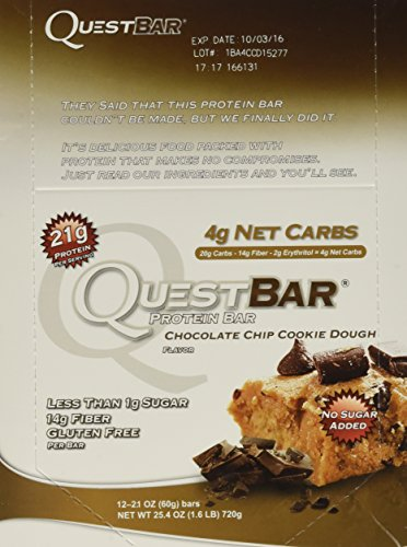 quest bar chocolate cookie dough - 1
