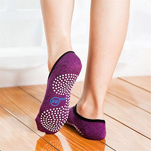 Yhao Non Slip Skid Yoga Pilates Socks with Grips Cotton for Women and Men Pilates, Fitness, Barre, Dance