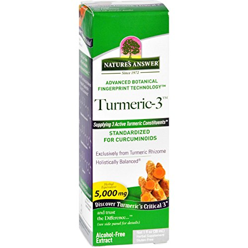 2 Pack of Nature's Answer Turmeric-3 Liquid, 1-Fluid (Natures Answer Single Herb)