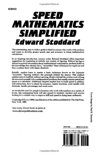 Speed Mathematics Simplified (Dover Books on Mathematics): Edward ...