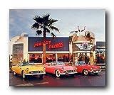 Wall Decor 1955 1956 1957 Ford Thunderbirds Vintage Car Art Print Poster (16x20)
