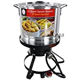StockPot Set w/ Burner & Stand Vaporera Tamalera Steamer Pot Olla Tamale (32QT)