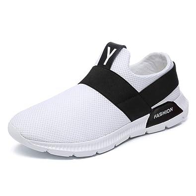 LMMET Scarpe da Ginnastica da Uomo Sportive Running Sneakers