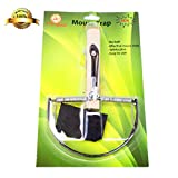 """TTD-Global Mouse Trap Without Bait, Stainless Steel With Wooden Handle Size 10.6"""" x 6.3"""""""