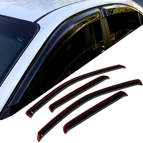 - TuningPros WD-767 Tinted Smoke Out-Channel Window Visor Deflector Rain Guard 4-pc Set