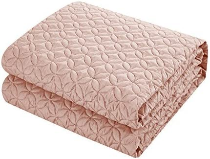 Chic Home Amandla 3 Piece Cover Set Rose Star Geometric Quilted Bedding-Decorative Pillow Shams Included Purple King