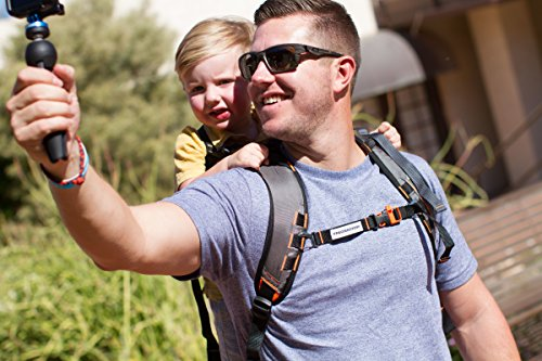 Piggyback Rider Scout Model – Child Toddler Carrier Backpack for Hiking Trails, Camping, Fitness Travel – Orange
