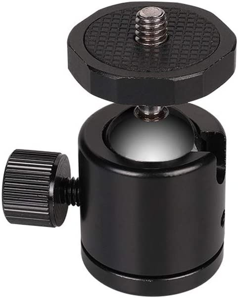 Color : Black Black Ychaoya Camera Stand Miniskirt 360 Degree Rotation Panoramic Alloy Ball Head for DSLR /& Digital Cameras
