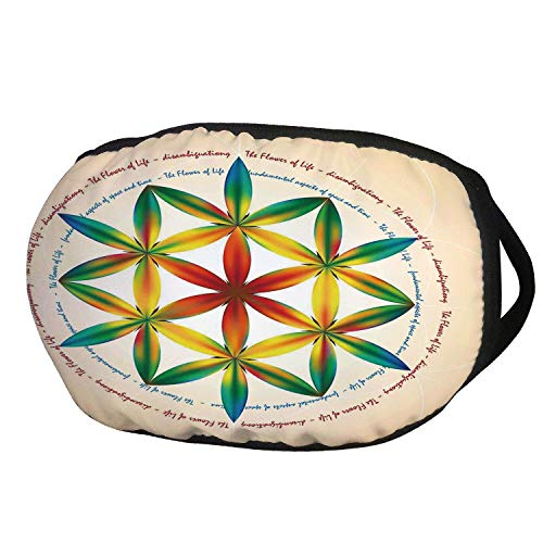 Fashion Cotton Antidust Face Mouth Mask,Sacred Geometrty Decor,Symbol of Fundamental Aspect of Space and Time Esoteric New Spiral Print,Multi,for women & men]()