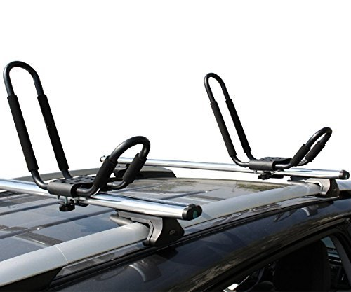 Ace-Trades Kayak J-Bar Rack Carrier Canoe Boat Surf Ski Roof Top Mounted on Car SUV Crossbar