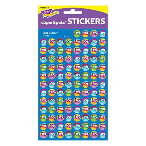 Trend Enterprises Owl-Stars! Super Spots Stickers, 800 per Package (T-46194) Photo #2