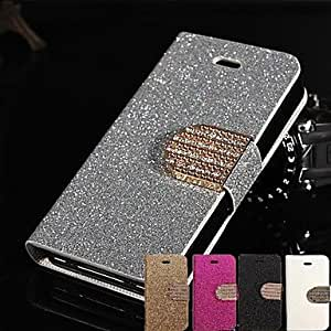 JJE Shimmering Full Body Case with Stand iPhone4/4S (Assorted Color) , Silver
