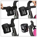 Stroller Cup Holder - Buggy Pram Pushchair Drink Bottle Cup Holder with Carabiner Clip Hanger