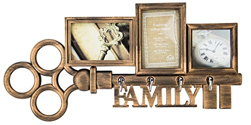 Boston Warehouse Art Family Key Collage Wall Frame
