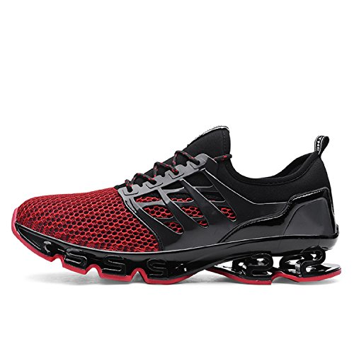 Gym Baskets de Sneakers Respirante Jogging Running Lacet Style tqgold Course Fitness Respirant Chaussures Multicolore Sport Homme Baskets Chaussures Running Rouge Course 6wXBq