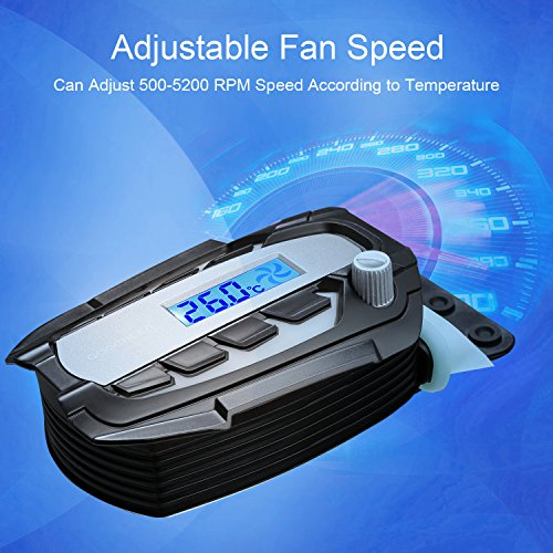 COOCHEER Laptop Cooling Fan Vacuum Cooler with Digital Display,Auto-Temp Detection,Rapid Cooling,USB Power Supply,Perfect for Gaming Laptop Cooler,Support 12-17 Inch Laptops,Black by COOCHEER (Image #3)