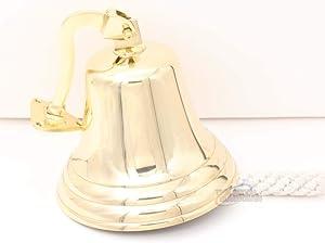 "The Metal Magician 4"" Solid Brass Ship/Last Orders/Pub/Door/School/Dinner/Reception Wall Mountable Bell"
