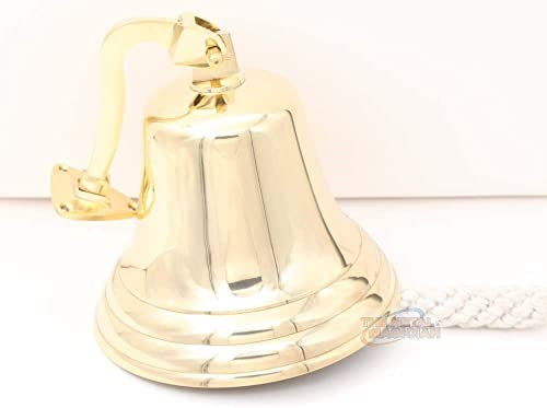 The Metal Magician 5 Solid Brass Ship Last Orders Pub Door School Dinner Reception Wall Mountable Bell