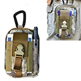 Artcraft(TM) Camouflage Ruins Molle Camo Bag Military 1000D Nylon Utility Tough Heavy Duty Tactical Compatible Waist Pack Universal Waist Bags Casual Climbing Hiking Outdoor Rock Gear Holster Pouch Cycling Carrying Big Pouch Belt Waist Bag / Pocket for Nokia ALL FIT Case Cover Skin
