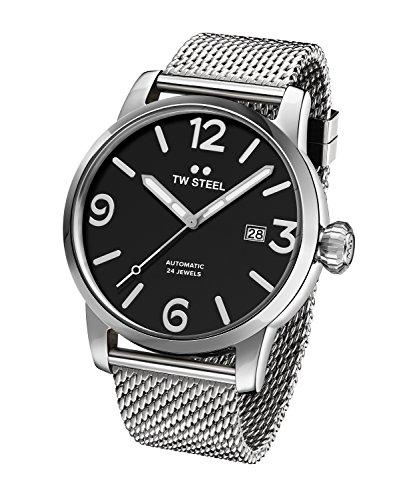 TW Steel Men s Maverick Quartz Watch with Stainless-Steel Strap, Silver, 23 Model MB16