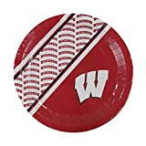 Duck House NCAA Wisconsin Badgers Disposable Paper Plates, Pack of 20