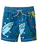 Gymboree Baby Boys Swim Trunks, Cadet Blue Sharks, 4T