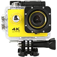 Sandsitore 4K Sport Action Camera 16MP WIFI Waterproof Camera 2inch LCD Screen 170 Ultra Wide-Angle Lens Underwater Camcorder And Full Accessories Kits (Yellow)