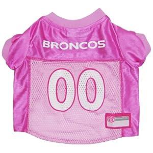 Pets First NFL DENVER BRONCOS DOG Jersey Pink, Medium. - Football Pet Jersey in PINK