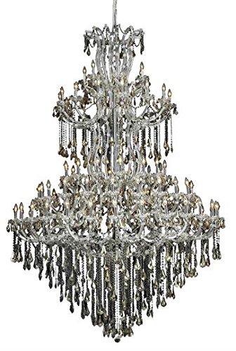Karla Chrome Traditional 85-Light Grand Chandelier Swarovski Elements Crystal in Golden Teak -2381G96C-GT-SS--48