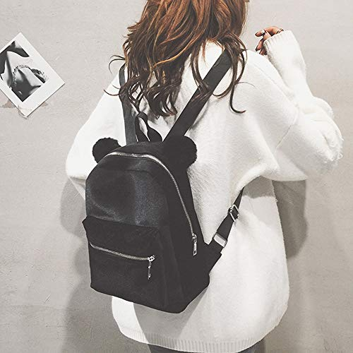 a3922201142 Zomusa Women Girls Fashion Mini Backpack Shoulder Bag Solid School Bags  With Fur