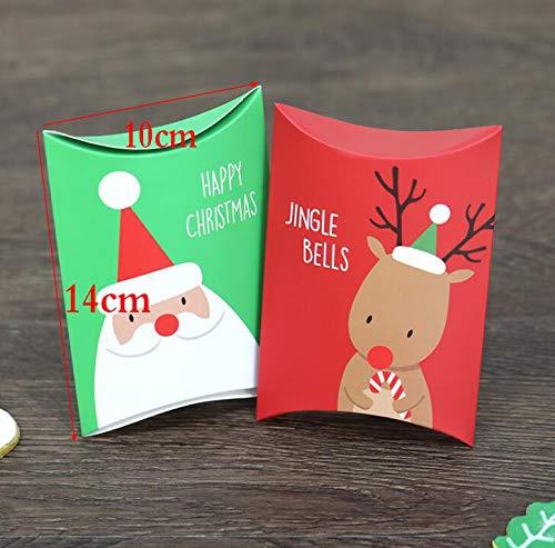 Liuer 40PCS Cajas de regalo peque/ñas Papel de Embalaje de Caramelo /Árbol de Navidad Decoraci/ón de Fiesta Campana Magdalena de Chocolate Dulces de Navidad Bolsas de Transporte Cajas de Regalo