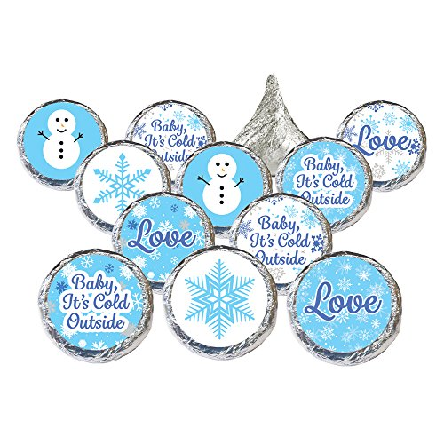 Baby It's Cold Outside - Winter Wonderland Party Favor Stickers for Hershey Kisses