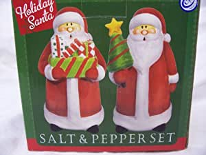 Holiday Santa Salt and Pepper Shakers