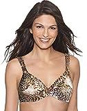 Hanes Women's Fit Perfection Underwire Bra, Jungle Leopard Print, 38D