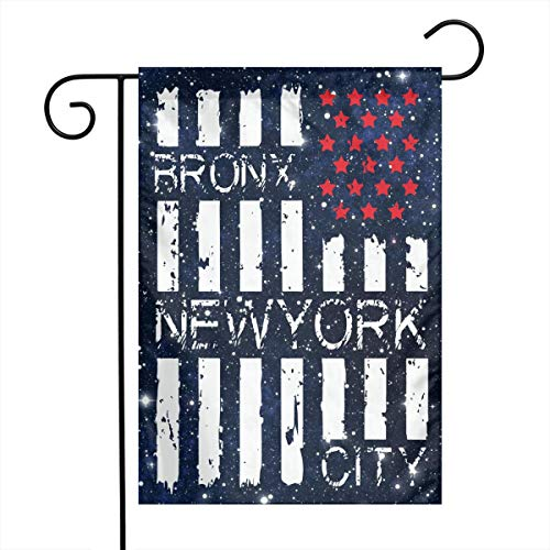 FQ#8FLAG American Flag with Bronx, New York City Welcome Family Party Flag Wedding Home Garden Flag 12