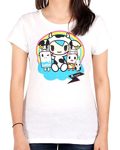 (Tokidoki Under the Rainbow White T-shirt (Medium) )
