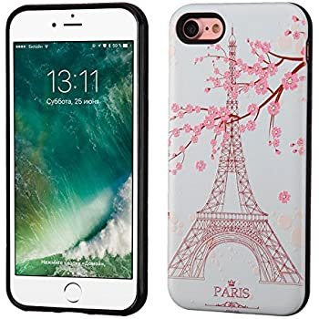 asmyna cell phone case for apple iphone 7 paris eiffel tower black cell phones. Black Bedroom Furniture Sets. Home Design Ideas
