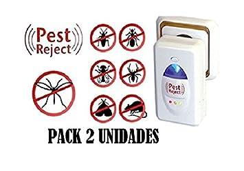 Pest Reject - Ahuyentador de roedores e insectos sin elementos químicos, sin sonido, sin recambios, electromagnético y por ultrasonidos.