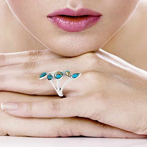 Buy green turquoise ring 9