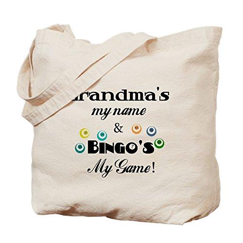CafePress–la abuela y Bingo–Gamuza de bolsa de lona bolsa, bolsa de la compra Small caqui