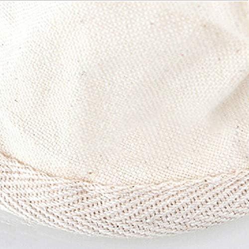 Zerodis Filtres /à Caf/é en Tissu R/éutilisable Ecologiste pour Percolator Grand Percolateur en Tissu Flanelle Lavable Durable avec Manche en Bois Caf/é Maker Accessoires