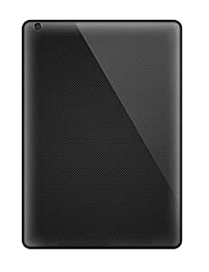 Anti-scratch And Shatterproof Black Wood Phone Cases For Ipad Air/ High Quality Tpu Cases