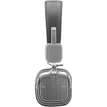 NGS Artica Supra - Auriculares de diadema abiertos con Bluetooth, color negro y gris: Amazon.es: Electrónica