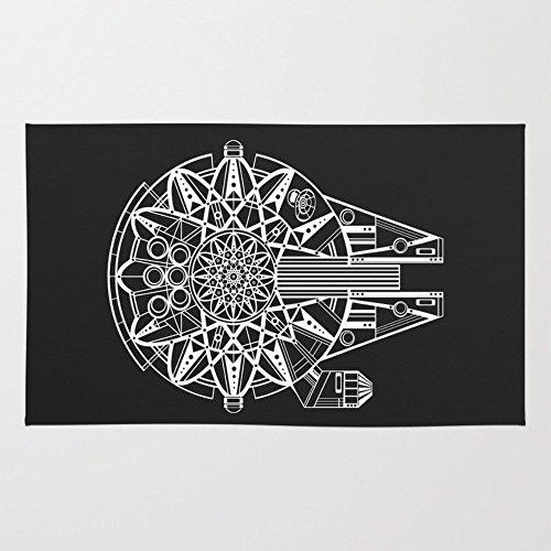 Society6 Millennium Falcon Mandala Illustration Rug 4' x 6' -  s6-3688782p35a36v290