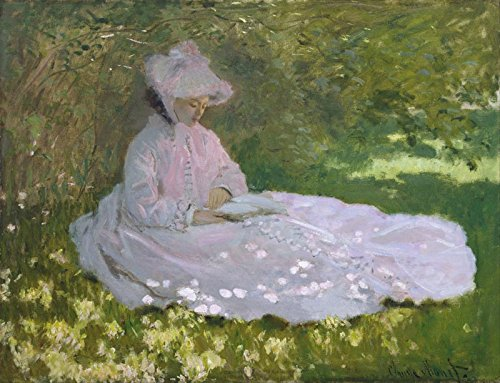Woman Reading by Claude Monet. Wall Decal - Peel & Stick, Removable (24